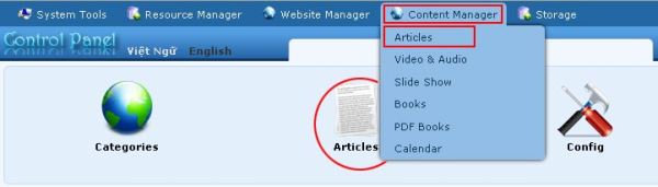 Supporting managing responsive web design vnvn cms 2.5 add an article
